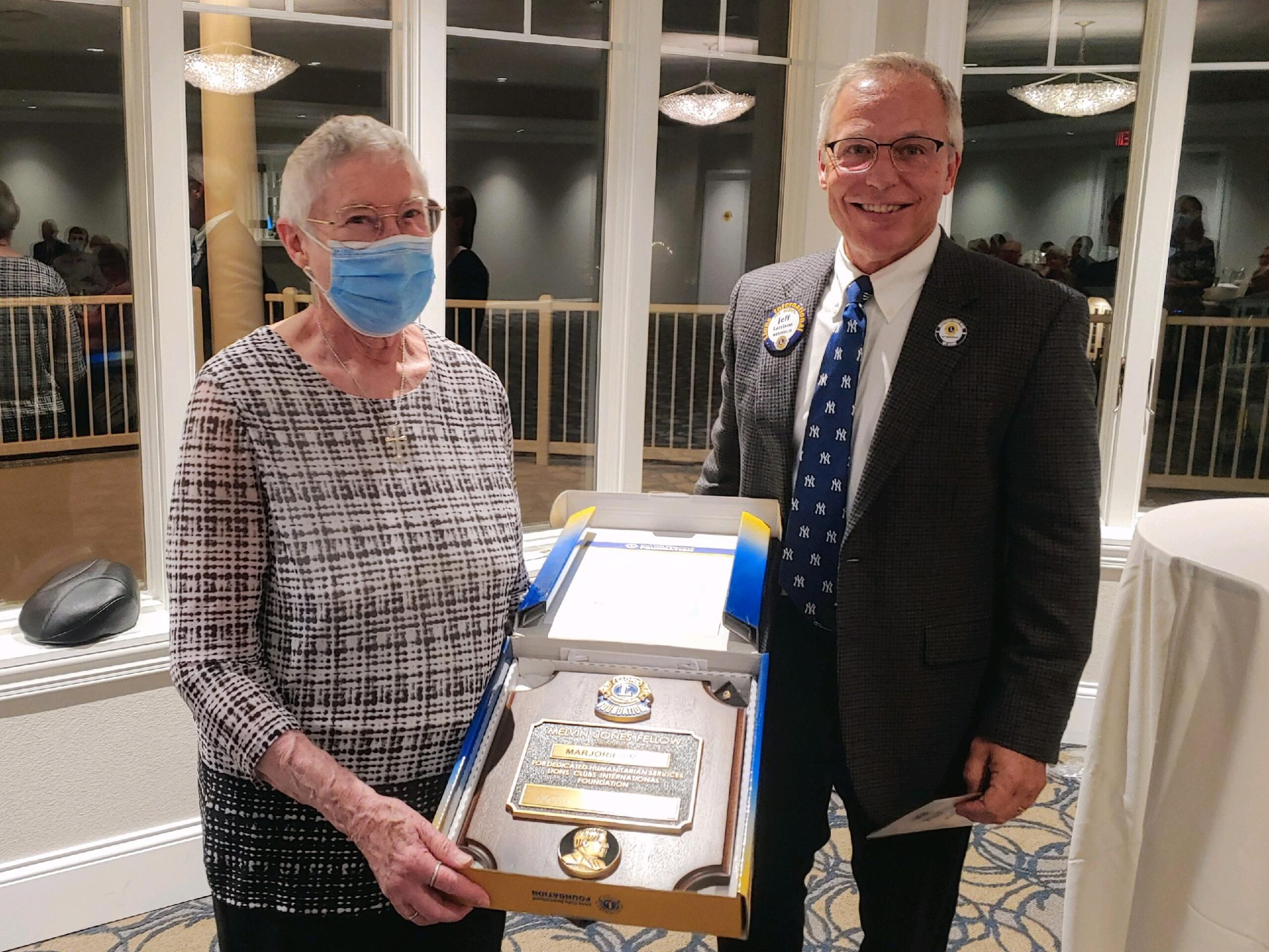 Margie Smith received one of the Lions Club's top honors